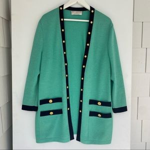 St. John collection by Marie gray cardigan m/l